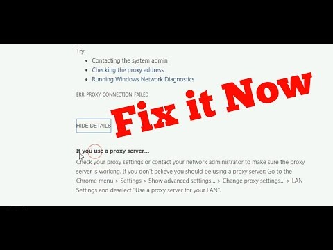 How To Fix There is no internet Connection|ERR_PROXY_CONNECTION_FAILED in Google Chrome