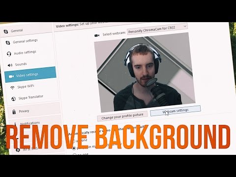 How to Remove Background w/ Logitech C922 in XSplit, Skype & Hangouts