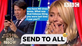 Holly Willoughby mortified as Michael TRASHES her contacts 🤮😂 - Send To All