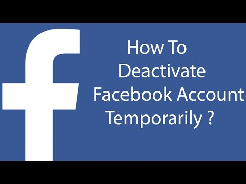 How to Deactivate Facebook Account with android phone