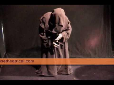 Halloween Giant, Monk, and Gremlin Animatronic Props