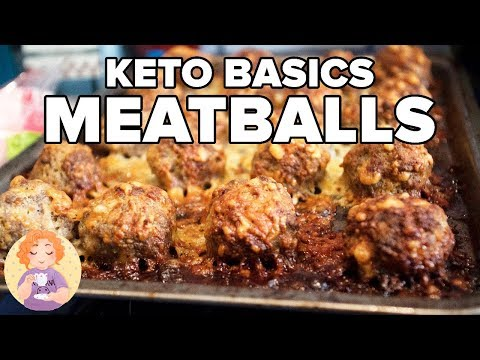 Basic Keto Recipes: How to make Italian Meatballs without breadcrumbs - Keto Meal Prep