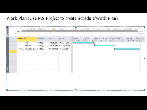Work Plan using MS EXCEL