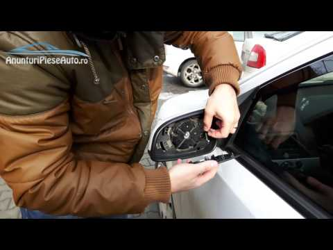 Remove and reinstall a mirror glass heated Vauxhall Astra H