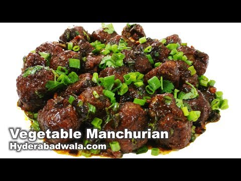 Vegetable Manchurian Dry Recipe Video - How to Make Mixed Vegetable Manchurian - Easy Cooking