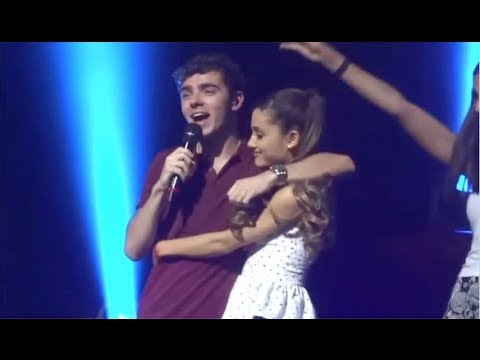 Nathan Sykes Serenades Ariana Grande On Stage!