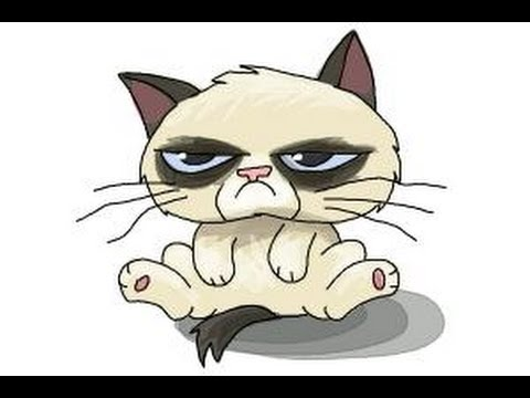 How to draw Chibi Grumpy Cat