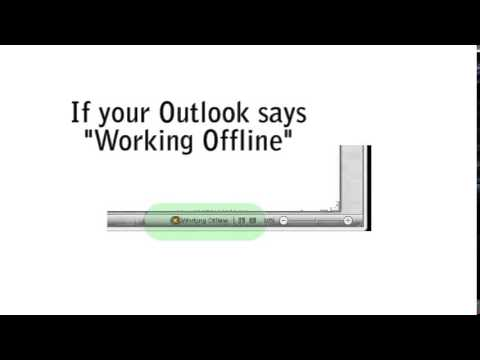 What to do when Outlook says working offline