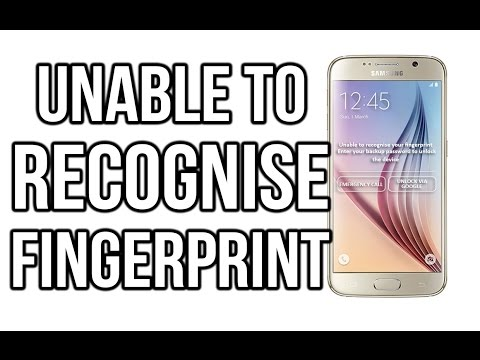 UNABLE TO RECOGNIZE YOUR FINGERPRINT SAMSUNG. galaxy S6/S7 edge Review