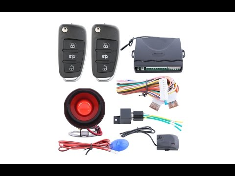 Remote Control Central Door Locking Conversion Keyless Entry System Kit - UNBOXING