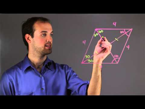 Formula for Angles to Diagonals : Math Skills