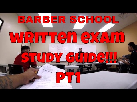BARBER SCHOOL STATE BAORD STUDY GUIDE!!! PT 1