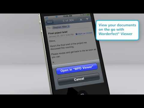 WordPerfect Viewer for iPhone and iPad