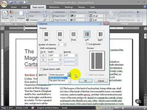 Microsoft Word 2007 ENG TB 06 09 Work with Columns