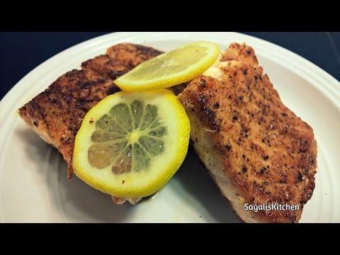 Pan Seared Salmon - Salmon Fillet - Healthy Salmon Recipe