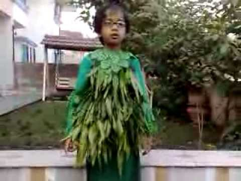 tree for fancy dress competition ideas for kids and children on nature theme of environment
