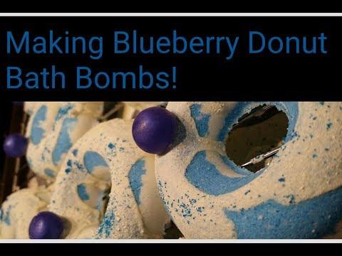 Making Blueberry Donut Bath Bombs!