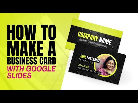 How to Create Professional Business Card Designs in Google Slides
