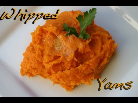 Mom's Yam's Puff - Whipped Sweet Potatoes - Thanksgiving recipes  by Rockin Robin Cooks