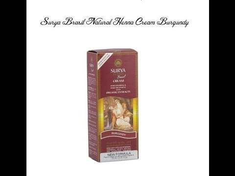Surya Henna Cream, Hair Color in Burgundy ( Application & Review)