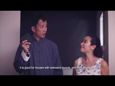 Singtel WiFi Master - Husband & wife with fengshui master