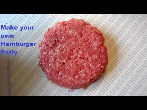 Lifehack: how to make the perfect Hamburger Patty