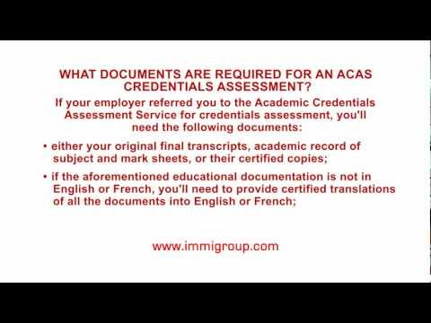 What documents are required for an ACAS credentials assessment?