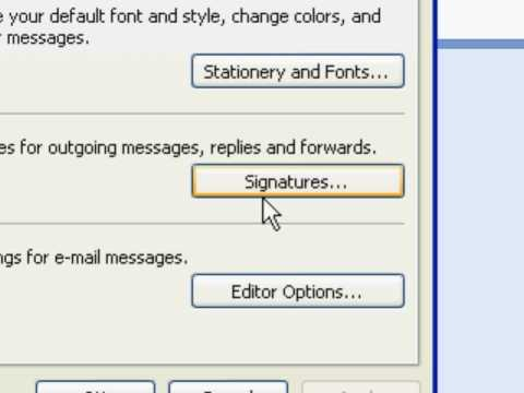 signatures in Microsoft Outlook 2007