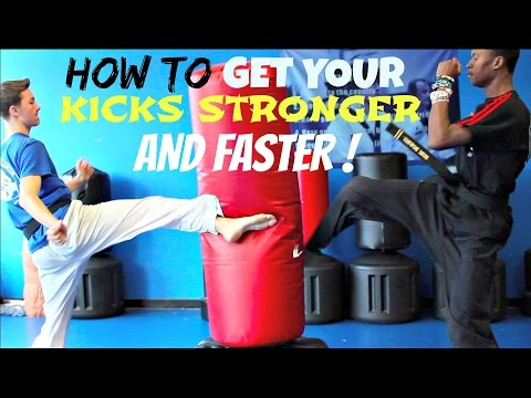 HOW TO GET YOUR KICKS FASTER AND STRONGER TAEKWONDO TUTORIAL BUILDING STAMINA CARDIO TRAINING