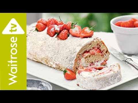 Vanilla and Strawberry Swiss Roll | Waitrose