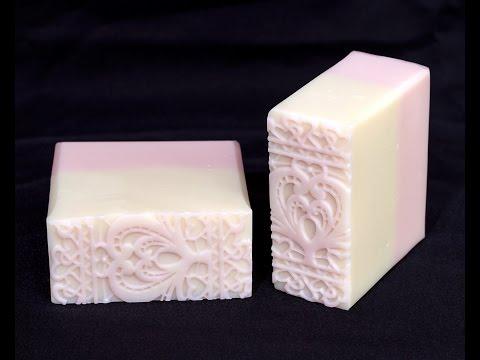 Homemade Soap - Impression Mat Cold Process Soap