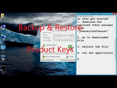 How To Backup & Restore Windows XP/7/8/8.1/10 & Microsoft Office Product/Activation Keys