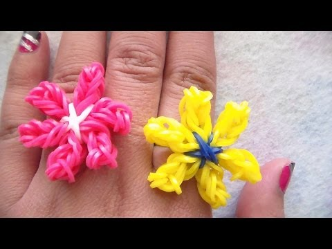 Lily Flower Charm Without the Rainbow Loom | CraftyVGV
