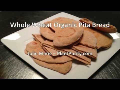 Whole Wheat Organic Pita Bread