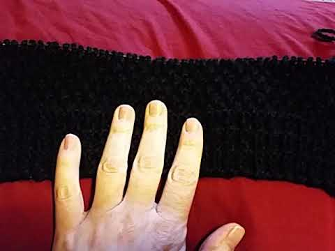 How to decrease in Irish Moss stitch.