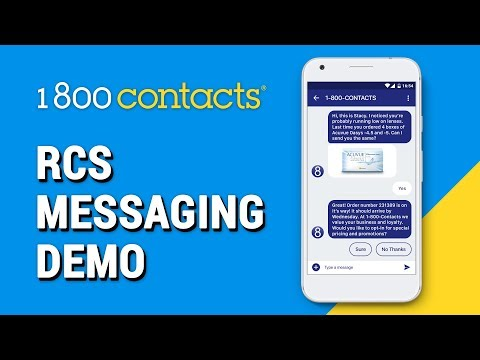 Mobile Marketing Campaign | 1-800 Contacts RCS Messaging Demo