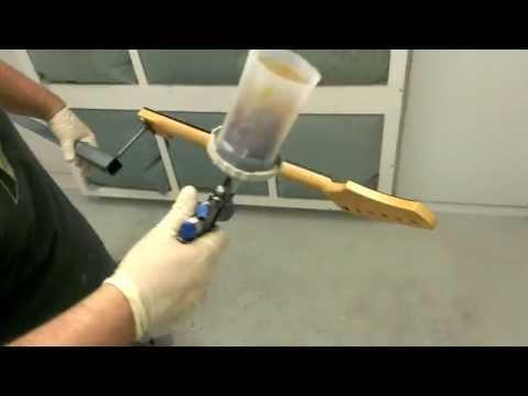 Kauer Guitars Operation Plaid Hammer neck finishing