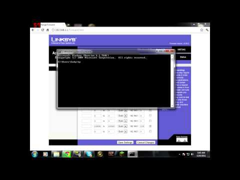 How to port forward with a linksys router for Ventrilo