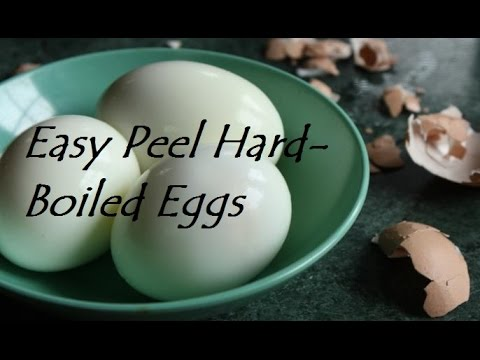 How to cook hard boiled fresh eggs that peel easy!