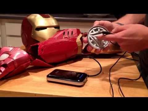 UPDATE: 10-10-15 Ironman Repulsor glove mod and Pepakura arm and new Helmet