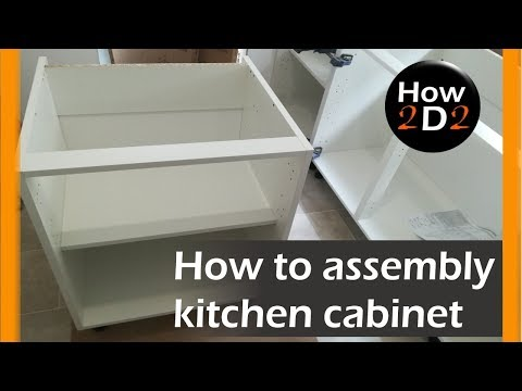 How to assembly kitchen base cabinet Flat pack from B&Q