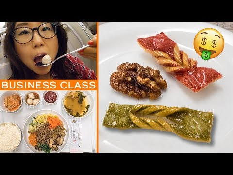 Flying BUSINESS CLASS on Asiana Airlines ♦ Overnight Flight from Singapore to South Korea