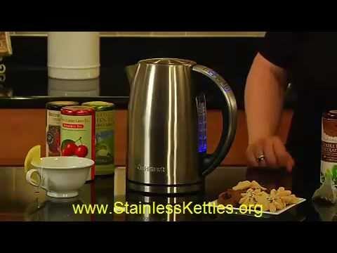 Stainless Kettles - Cuisinart Stainless Steel Electric Kettle Demonstration