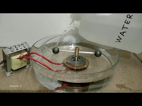Strange rotation of a rotor with a bearing AC-DC volts