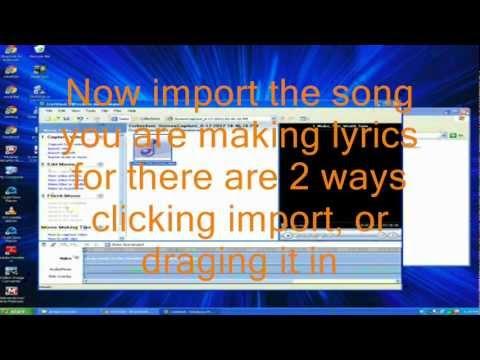 how to make a lyric video using windows movie maker