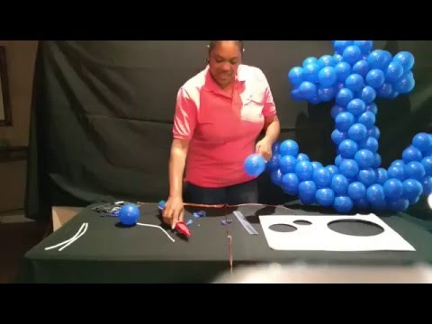 How to make an anchor with balloons