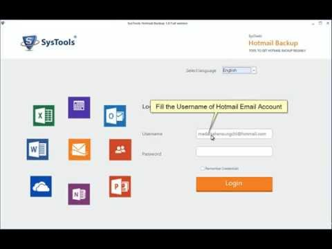 How to Backup Hotmail Emails into the Local Machine