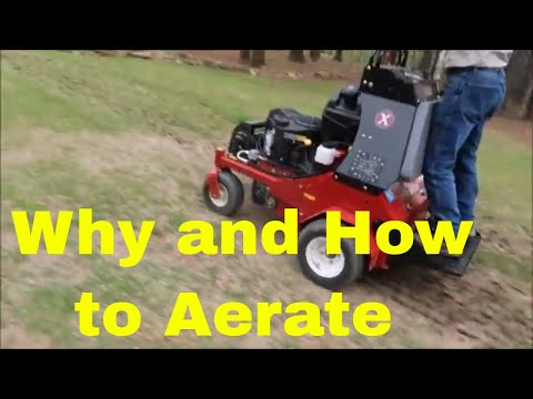 Aerating Your Lawn Info and Demo with Stand On Aerator