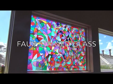 Faux Stained Glass Tutorial
