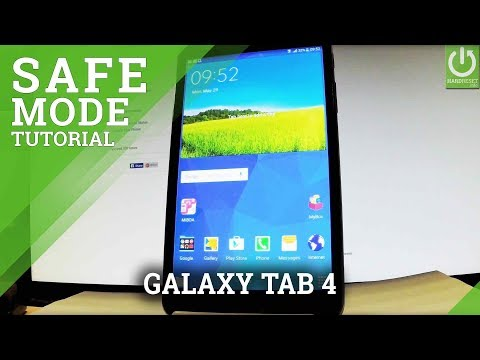 How to Enter Safe Mode SAMSUNG Galaxy Tab 4 - Quit Safe Mode